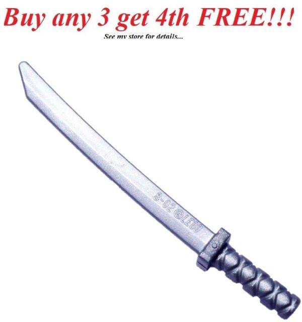 NEW LEGO sword Weapon Katana // Shamshir Flat Silver x 10 Ninja Ninjago