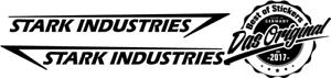 2x Stark Industries 20cm Autoaufkleber Seitenaufkleber JDM Sticker Iron DUB GEEK
