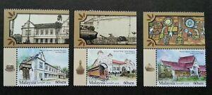 SJ-Malaysia-Historical-Museums-2018-Train-Coach-History-stamp-margin-MNH