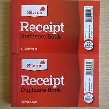 7 x DUPLICATE CASH RECEIPT BOOK NEW Silvine Office Accounts 7 x Books