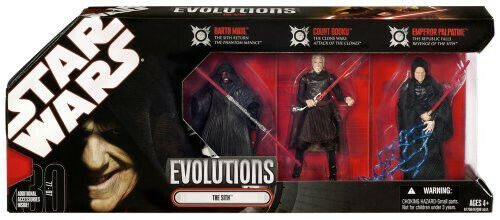 Hasbro Star Wars 3.75 IN (environ 9.52 cm) Evolutions-the Sith Legacy 3Pk