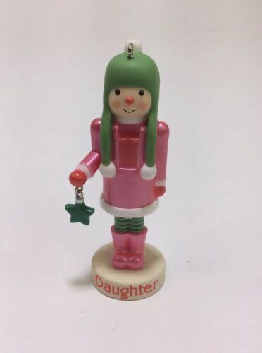 Hallmark Keepsake Ornament 2013 Dear Daughter Nutcracker Snowman Girl Pink Dress