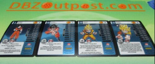 Dragonball Z DBZ TCG Panini Starter Deck Evolution Goku MP Set Levels 1-4!