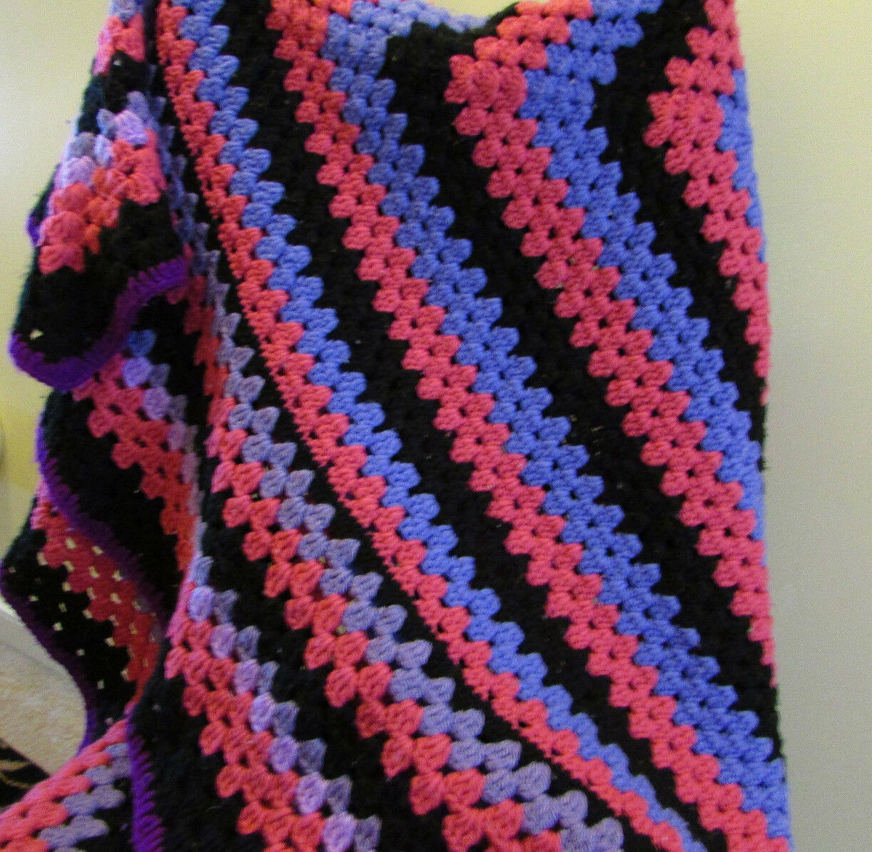Vintage Tejida A Mano afgano Manta Cobertor MultiColor 50 X 50