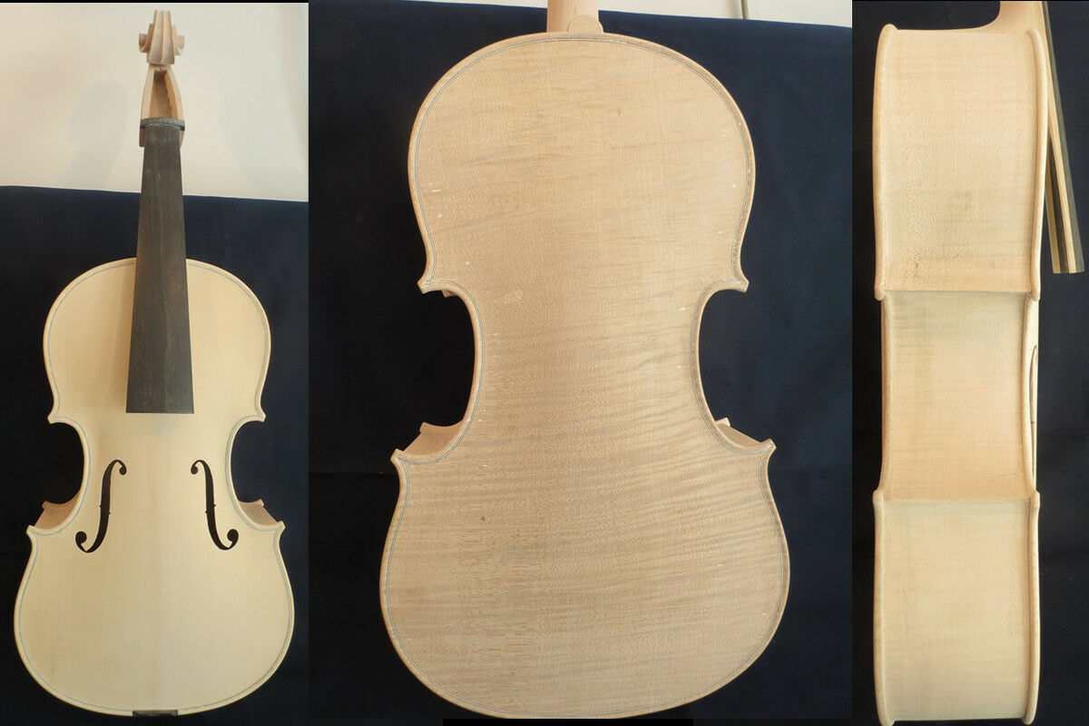 Hand made Unfinished big 5 string lila 17 7 8  (455mm),flamed maple back