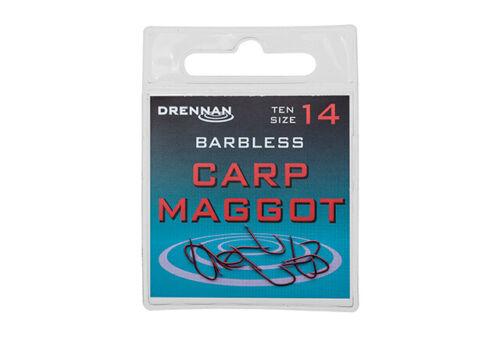 Drennan Barbless Hooks Spade End For Coarse Fishing Carp Maggot