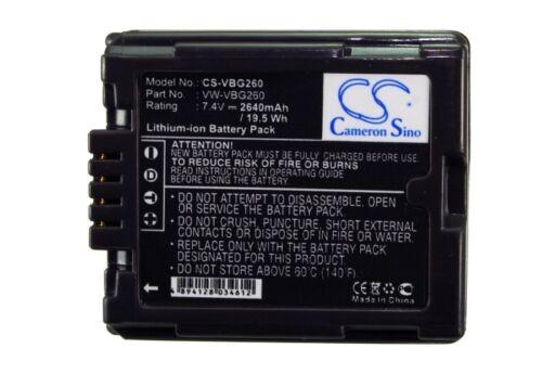 Li-ion Battery for Panasonic VW-VBG260-K VW-VBG260PPK PV-GS85 VW-VBG260 PV-GS500