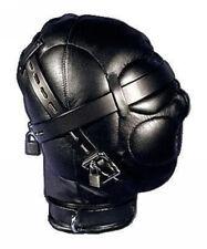 Heavy Duty PU Leather Padded Lockable Hood Mask Halloween 11 IP