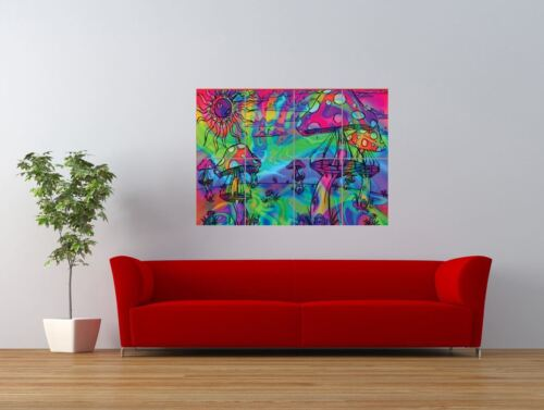 PSYCHEDELIC TRIPPY MUSHROOMS HALLUCINOGENIC GIANT ART PRINT PANEL POSTER NOR0118