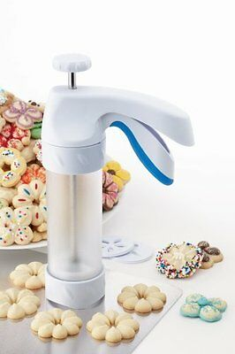 Wilton Comfort Grip Christmas Spritz Cookie Gun Press New