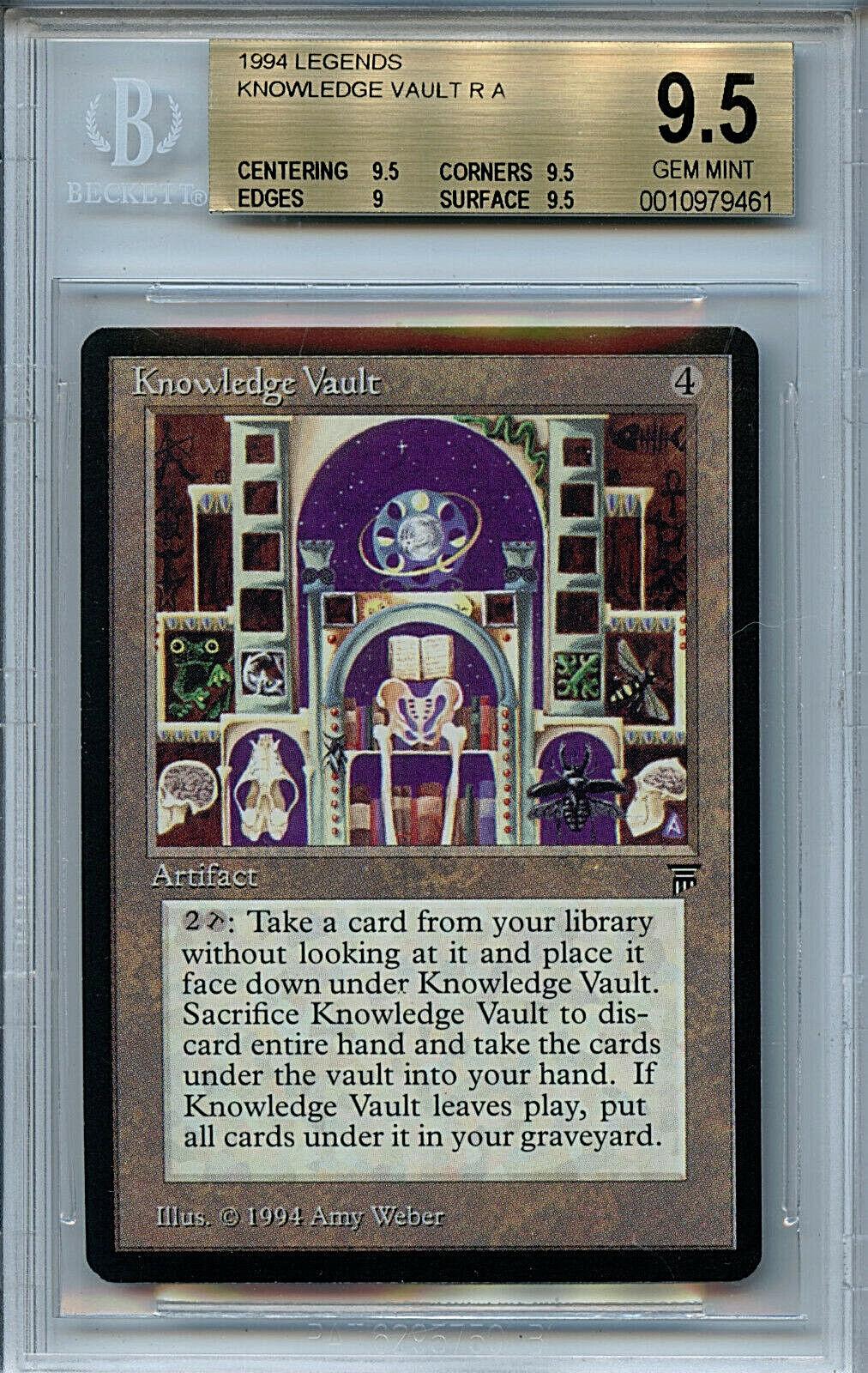MTG Legends Knowledge Vault BGS 9.5 Gem Mint magic card Amricons 9461
