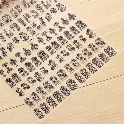 108pcs 3D Flower Design Nail Art Manicure Tips Stickers Decals DIY Decoration