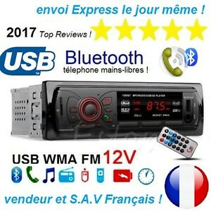 Autoradio-voiture-Bluetooth-Stereo-entrees-SD-USB-MP3-Radio-FM-mains-libres-2017