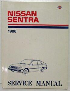 1986 nissan sentra service shop repair manual model b11 series ebay rh ebay ie Nissan Sunny B12 nissan sunny b11 service manual pdf