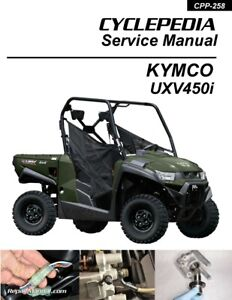 Details about KYMCO UXV 450i 4X4 Side X Side Printed Service Manual By  Cyclepedia