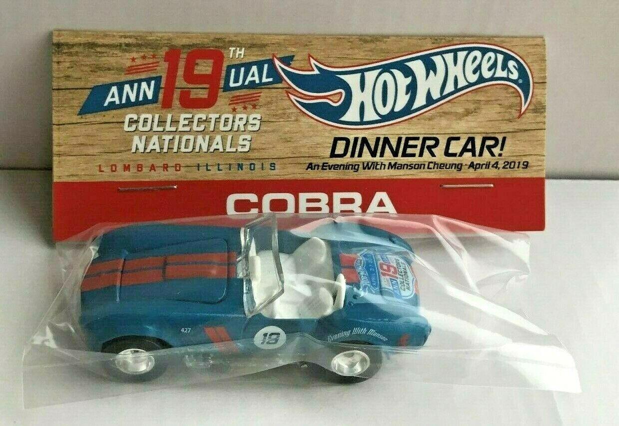 Hot Wheels nacionales 19th convención de 2019 cena azul y rojo real jinetes de Cobra Con