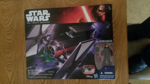 Star Wars The Force Awakens First Order Special Forces Tie Fighter w// pilot
