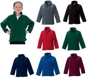 Childrens Jerzees Full Zip Fleece Jacket in Royal blue Size S 3-4 years