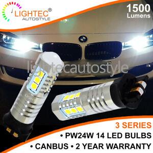 2x-CANBUS-BMW-F24-F34-F30-F31-F35-F80-DRL-DAYTIME-RUNNING-LIGHTS-LED-BULBS-PW24W