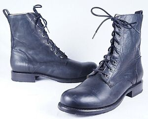 Mens Frye Rogan Tall Lace Up Boots Black Antique Pull Up ZOH35067