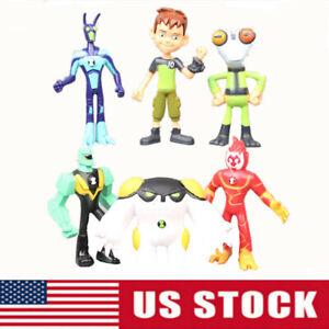 Ben Matter Grey XLR8 Diamondhead Heatblast 6pcs Action Figure Kids Toy Xmas Gift