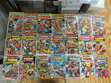 MARVEL TWO-IN-ONE 38 ISSUE BRONZE COMIC RUN LOT 6-100 ANNUALS 3 6 THING