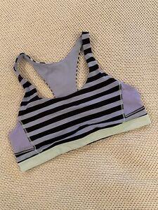 Lululemon Athletica - Racerback Sports Bra - Women's - Blue Black Mint - Size 8