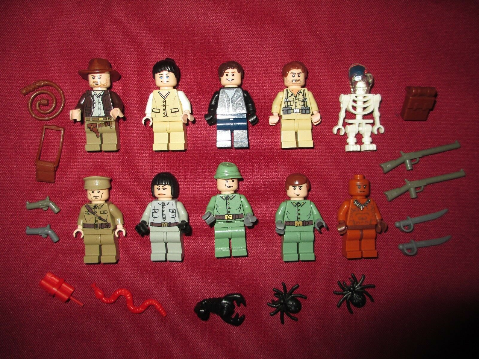 LEGO Indiana Jones Minifigures Lot,10 Lot,10 Lot,10  Figures Lots of accessories 50da88