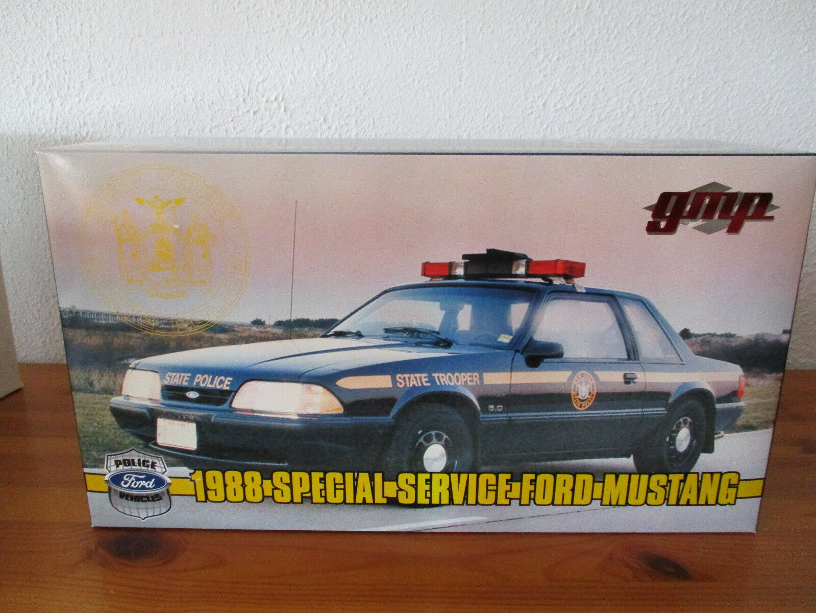 ( Gor ) 1 18 Gmp Ford Mustang 1988 New York State Police Spécial Service