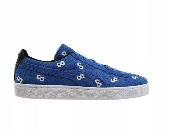 sports shoes ebfa3 32fbf NEW Puma Cookie Monster Mens Sneakers Size 9 Blue Suede Sesame Street