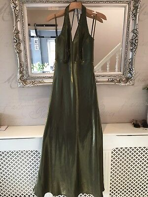 8d90583da5d Dynasty Olive Green Ball Dress Size 14 Party Wedding Evening Gown Shimmery  Long | eBay