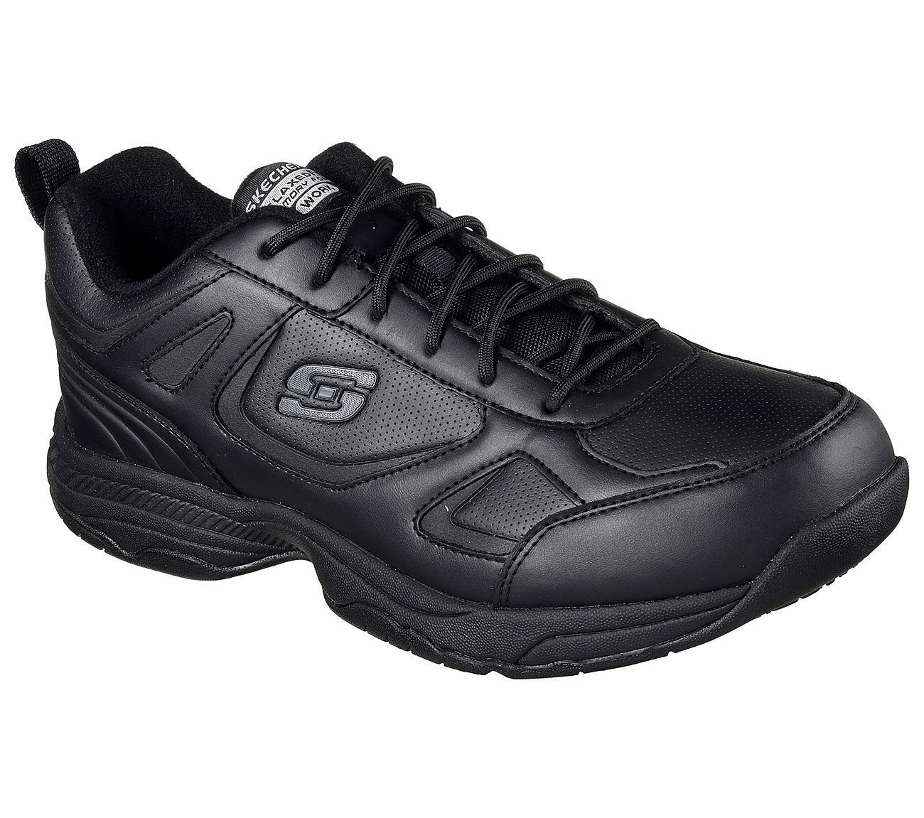 77111 Black Skechers shoes Memory Foam Work Men Comfort Slip Resistant EH Safety