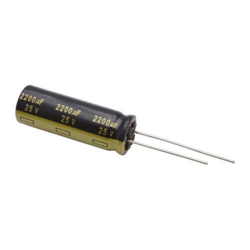 2 Elko low Impedance condensador radial Panasonic FM 2200uf 25v 105 ° C 860418