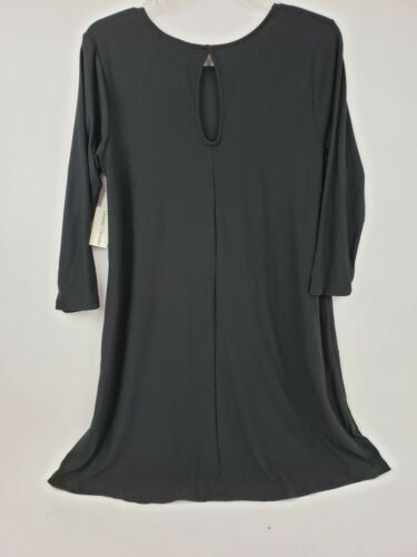 New Bobbie Brooks Women/'s Size Small Black Knee Length Dress 3//4 Sleeve Soft
