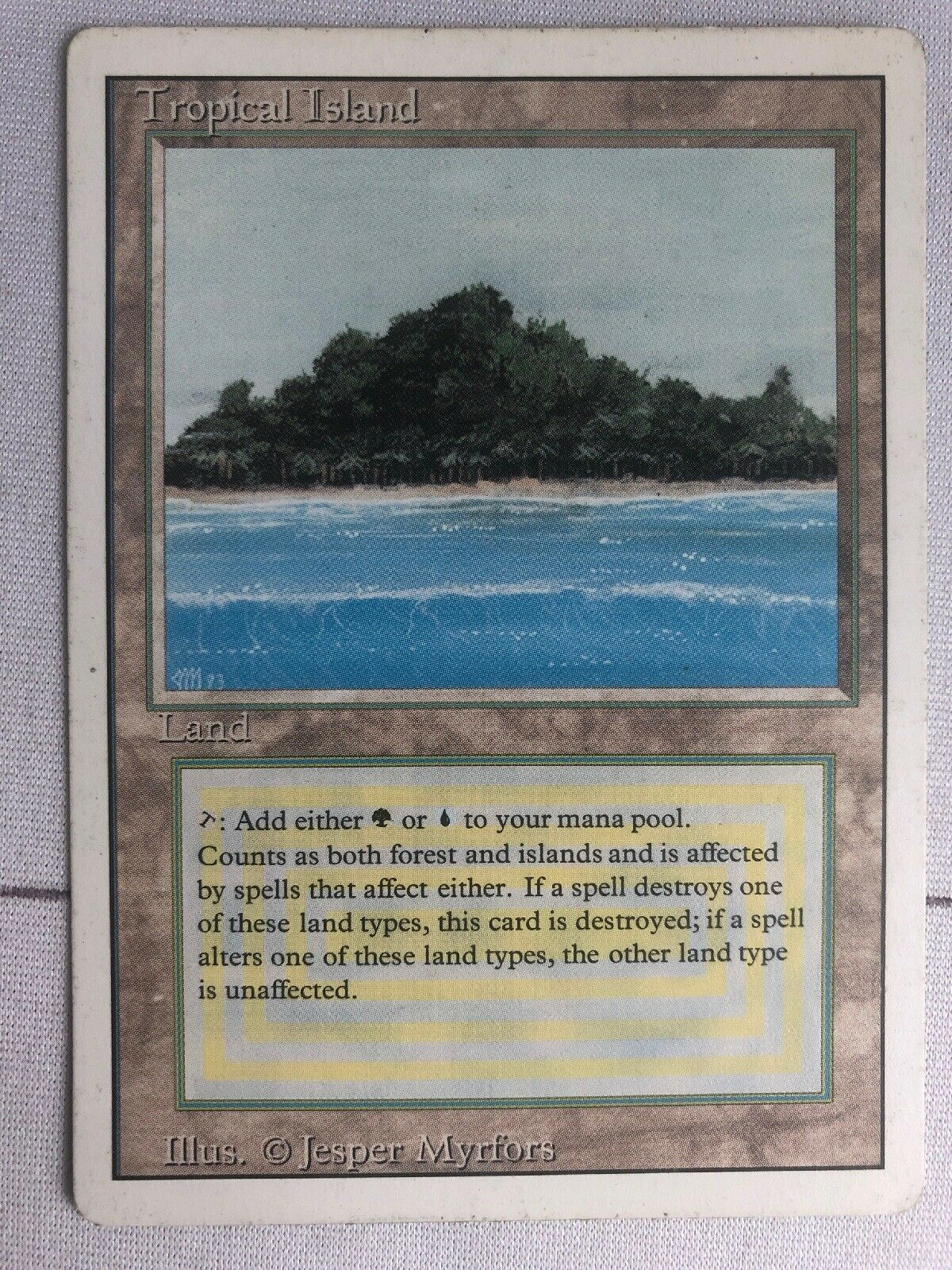 Mtg, Tropical Island, Revised, LP
