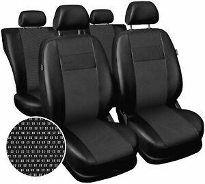 full set black leatherette Car seat covers fit Audi A6