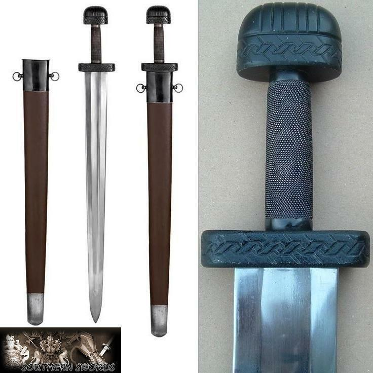 Traditional Viking Broadsword - Hand Made with Full Tang & EN45 HC Steel Blade