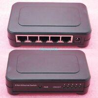 5 Port 10/100 Mbit Netzwerk Switch RJ45 Ethernet Desktop Verteiler LAN Hub DSL
