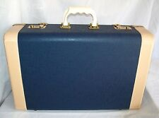 VTG CROWN LUGGAGE UNUSED WITH KEYS Hard Shell Suitcase Luggage TRAIN CASE TRAVEL
