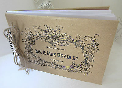 PERSONALISED VINTAGE WEDDING /ENGAGEMENT/GUEST/SCRAPBOOK/PHOTO BOOK
