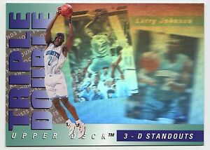 Larry-Johnson-1994-3D-Standout-Hologram-Triple-Double-Basketball-Card-MINT