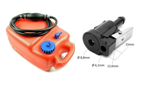 Set Bootstank Benzintank Schlauch Pumpball Yamaha Außenborder Boot Bootstank