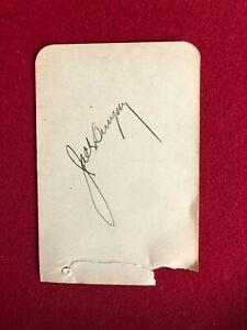 """Jack Dempsey, """"Autograph"""" (JSA) Album Page (Scarce / Vintage)"""