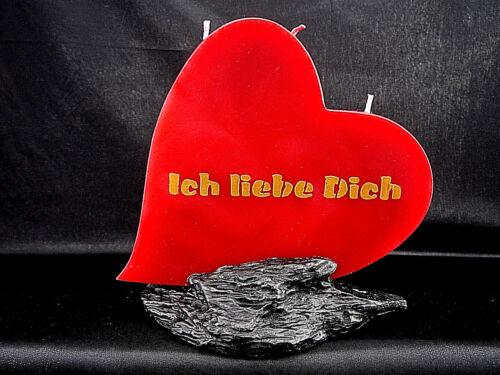 Spruch Herz Kerzen Hochzeit Muttertag Vatertag Valentinstag Frauentag Jahrestag