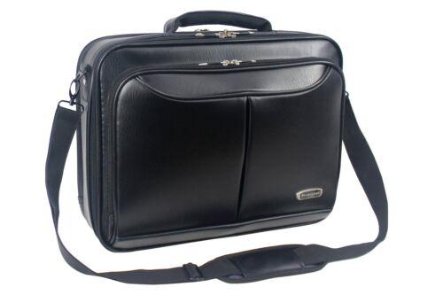 Da Uomo Nera Borsa per laptop valigetta Lavoro Ufficio Borsa a tracolla in finta pelle 8110