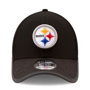 super popular 302d3 49d08 Image is loading New-Era-Pittsburgh-Steelers-2017-Training-Camp-Official-