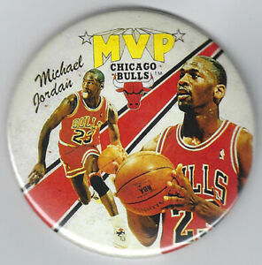 1988-Michael-Jordan-MVP-photo-button-3-034-original-pin-1980-039-s-rare-Chicago-Bulls
