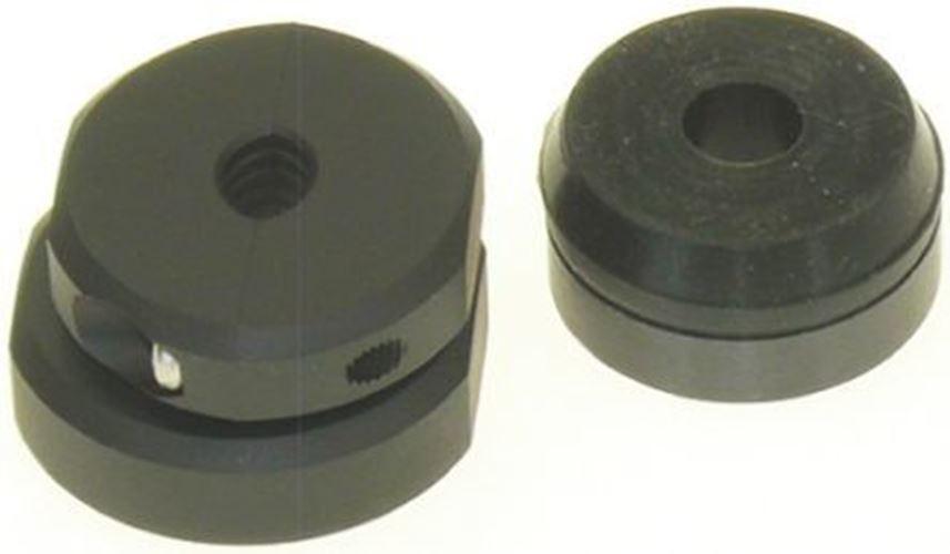 Hipink Kabel Klemme black Schraube Aluminium-Legierung, Messing, Zinklegierung