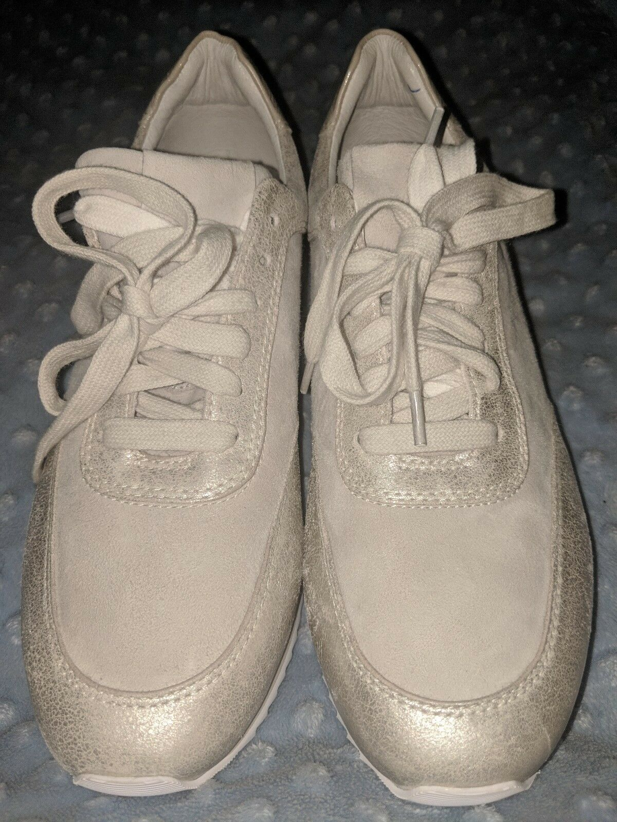 Sneakers and Athletic Johnston & Murphy Jules Ice Metallic Leather Kid