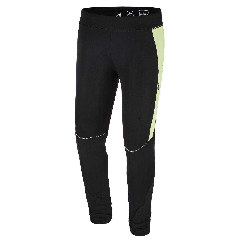 CMP Running Pantaloni Sport Legging Nero Elasticizzato Dryfunction Leggero